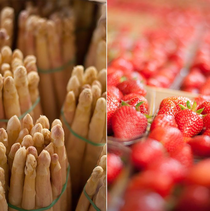 Le Gargantua | Asparagus & fresh strawberries from Lavardac Market