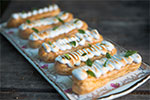 Le Gargantua | French Patisserie | Lemon & Basil Eclairs with Italian meringue